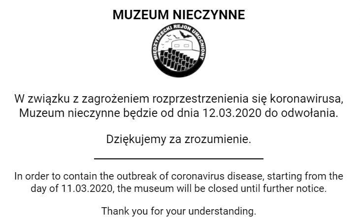 Ilustracja do informacji: Koronawirus: Muzeum w Pniewie zamknięte do odwołania