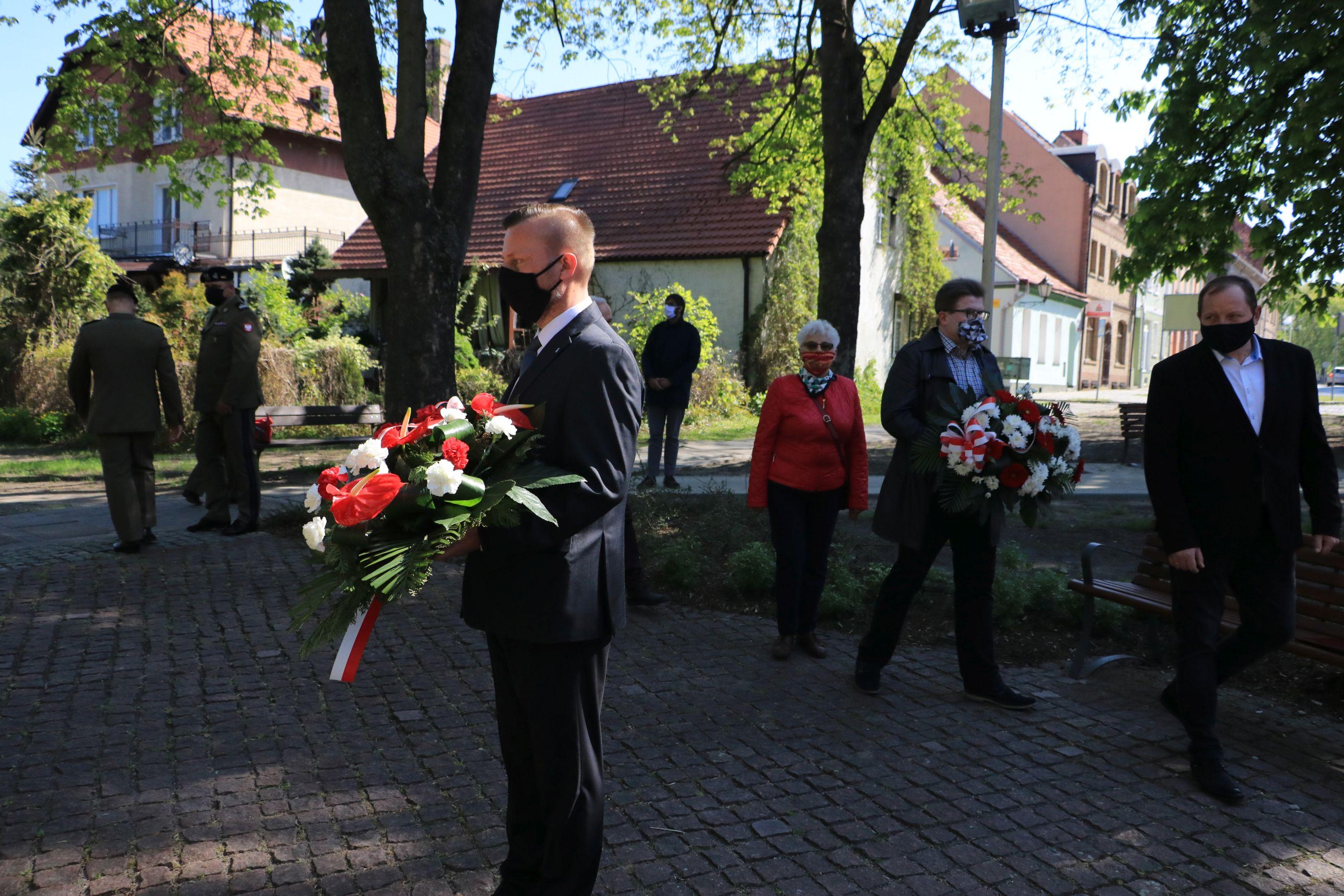 Ilustracja do informacji: Międzyrzecz pamiętał o rocznicy zakończenia Drugiej Wojny Światowej