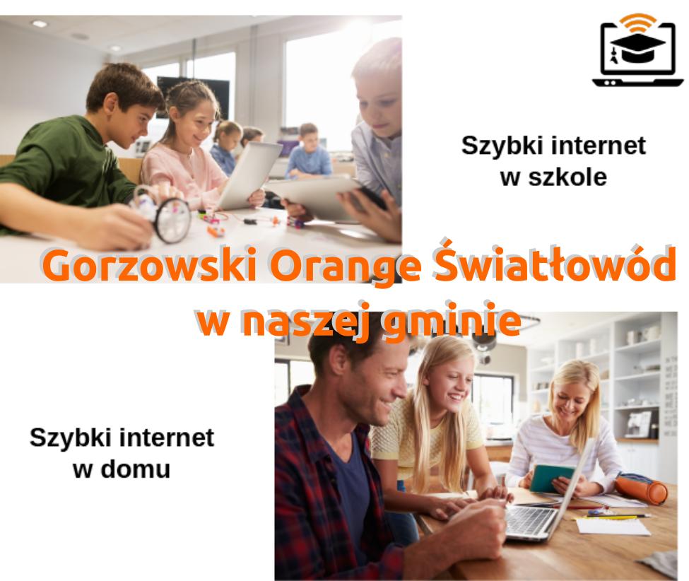 Ilustracja do informacji: Gorzowski Orange Światłowód w naszej gminie – szybki internet dla szkół i mieszkańców