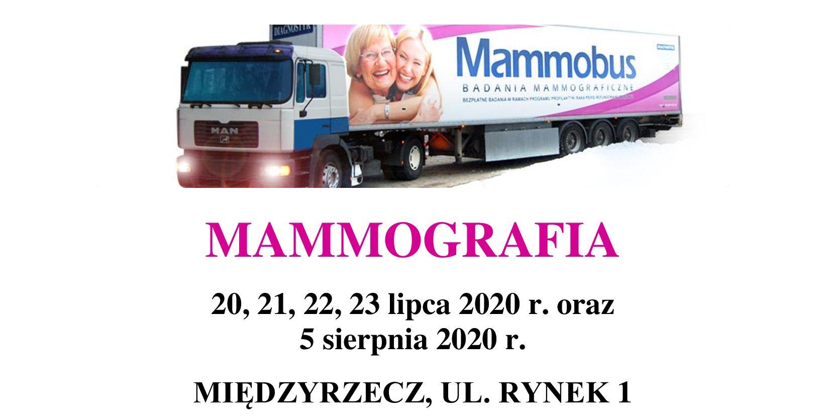 Ilustracja do informacji: Badania mammograficzne