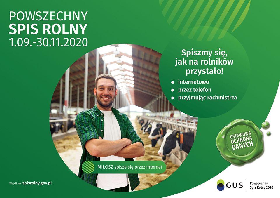 Ilustracja do informacji: Powszechny Spis Rolny 2020 coraz bliżej!
