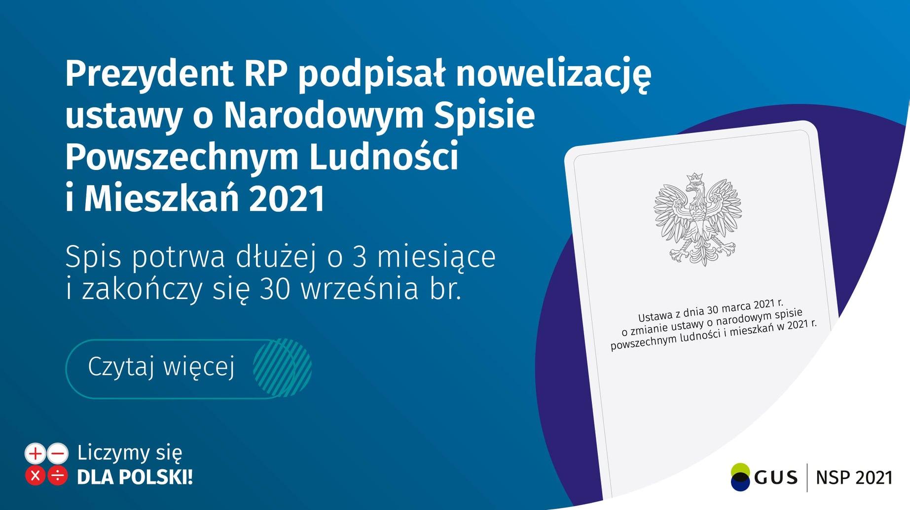 Ilustracja do informacji: Prezydent RP podpisał nowelizację ustawy o Narodowym Spisie Powszechnym