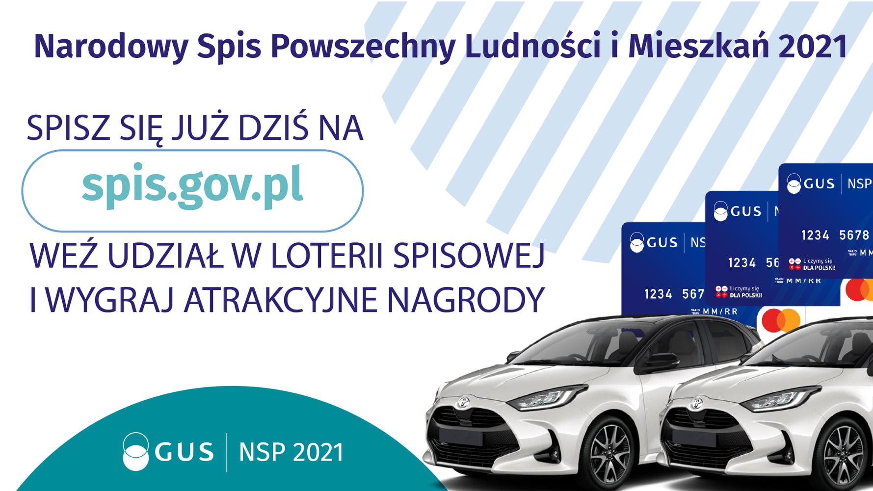 Ilustracja do informacji: Weź udział w Narodowym Spisie Powszechnym Ludności i Mieszkań i wygraj atrakcyjne nagrody w Loterii Spisowej