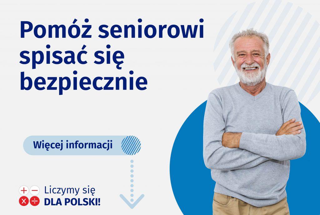 Ilustracja do informacji: Narodowy Spis Powszechny: Pomóż seniorowi spisać się bezpiecznie