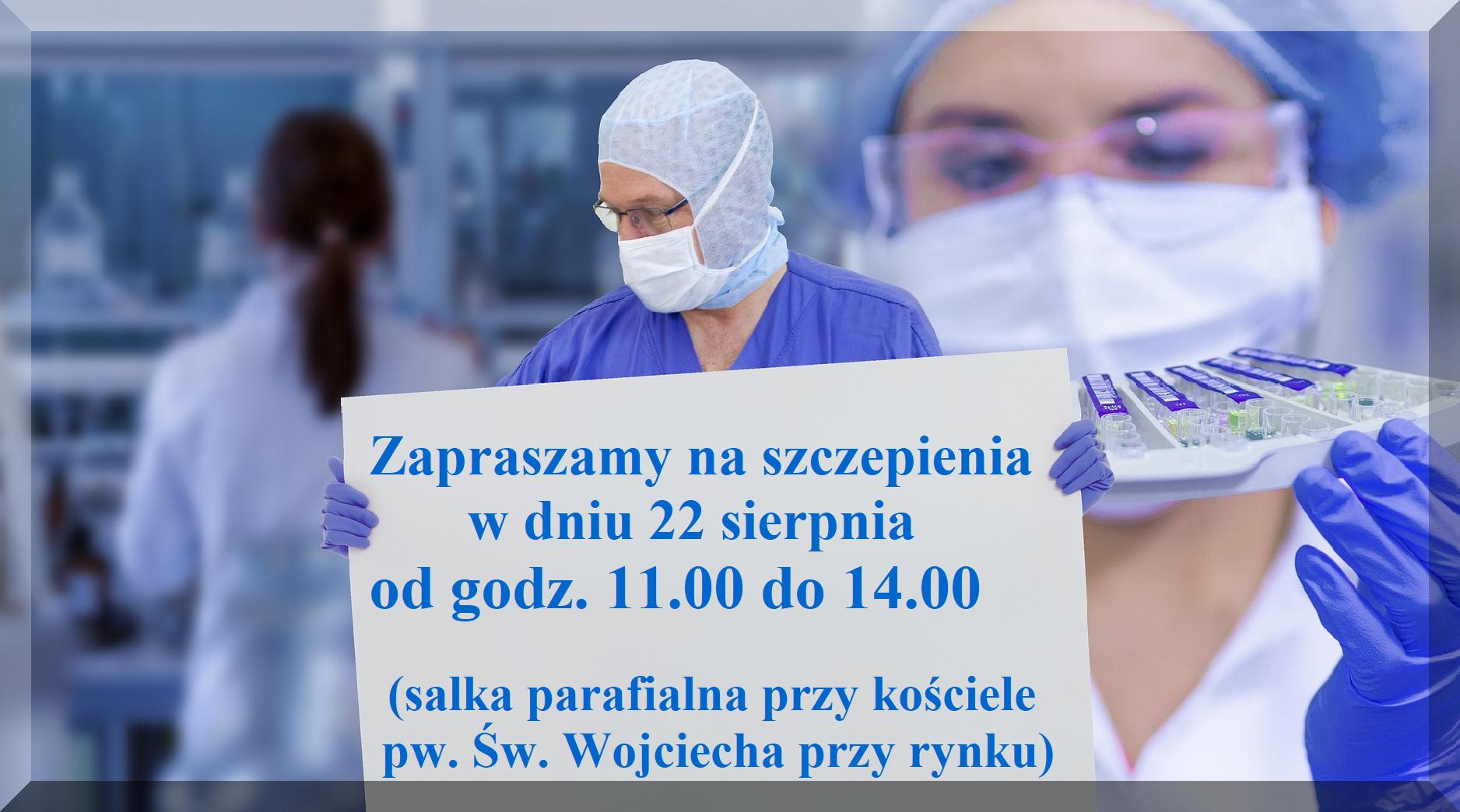 Ilustracja do informacji: Zapraszamy na szczepienia